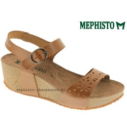 MEPHISTO Femme Sandale FABIOLA Marron naturel cuir 10390