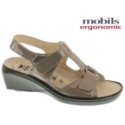 Sandale Méphisto Mobils ULRIKE Taupe brillant cuir sandale