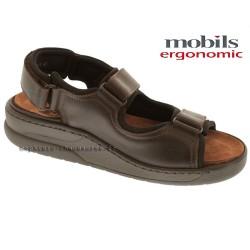mephisto-chaussures.fr livre à Paris Mobils VALDEN Marron cuir sandale