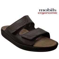 mephisto-chaussures.fr livre à Gaillard Mobils JAMES Marron cuir mule
