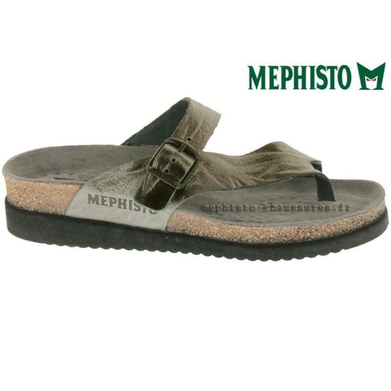 MEPHISTO Femme Tong HELEN gris cuir 13282