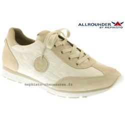 Mephisto femme Chez www.mephisto-chaussures.fr Allrounder JAVA Blanc toile Beige cuir lacets