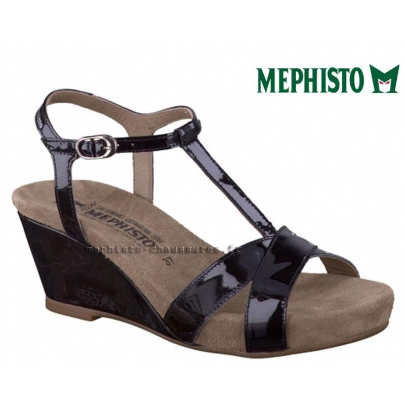 MEPHISTO Femme Sandale BATIDA Noir Verni 13355