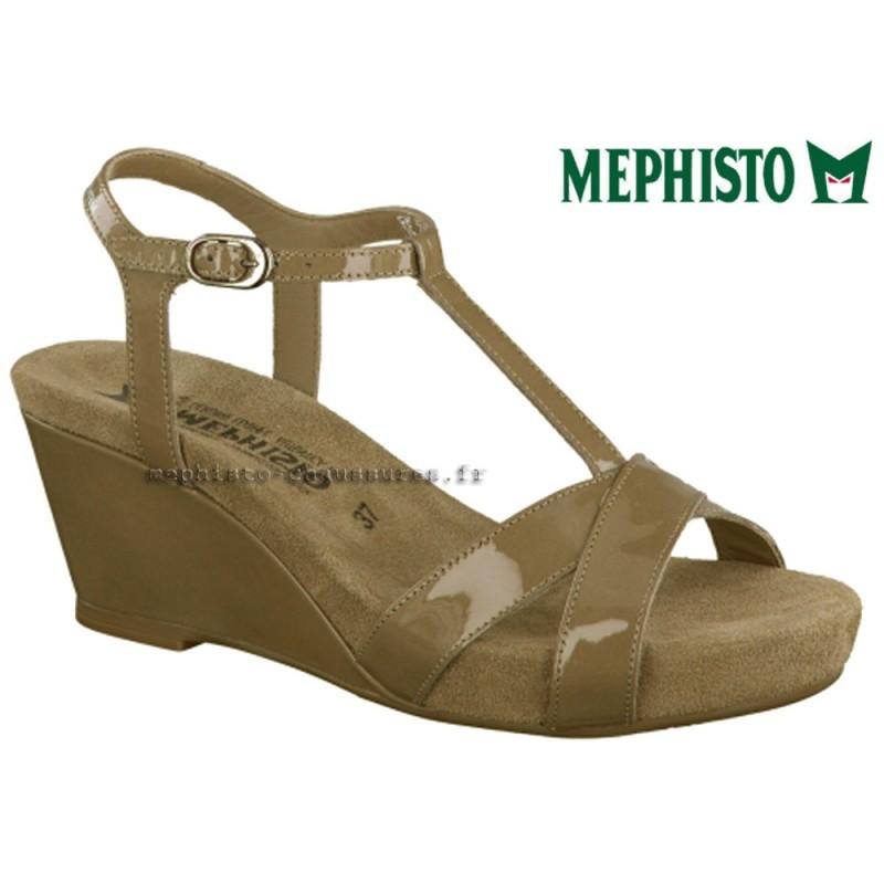 MEPHISTO Femme Sandale BATIDA Taupe verni 13363