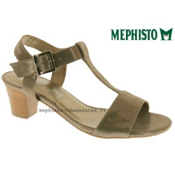 Mode mephisto Mephisto DIANA Taupe cuir brillant sandale
