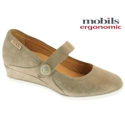 Mephisto femme Chez www.mephisto-chaussures.fr Mobils VICTORIA taupe nubuck ballerine