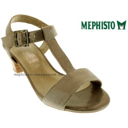 chaussures Femme MEPHISTO DIANA Taupe cuir brillant 15161
