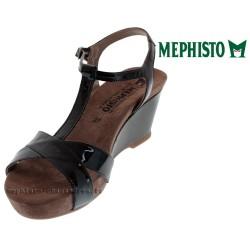 MEPHISTO Femme Sandale BATIDA Noir Verni 15198