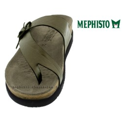 a3f7f9f24bbe ... MEPHISTO Femme Tong HELEN gris cuir 15476 ...