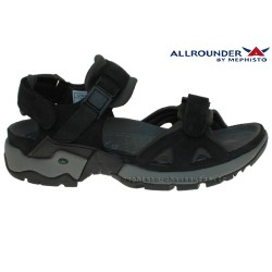 mephisto-chaussures.fr livre à Gravelines Allrounder ALLIGATOR Noir cuir sandale