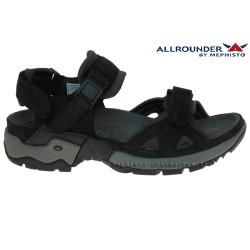 mephisto-chaussures.fr livre à Oissel Allrounder ALLIGATOR Noir cuir sandale