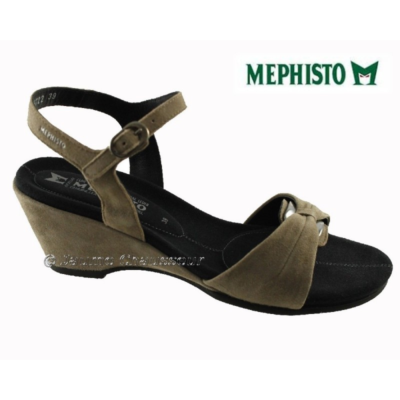 chaussures Femme MEPHISTO CATLEEN Taupe daim 1630