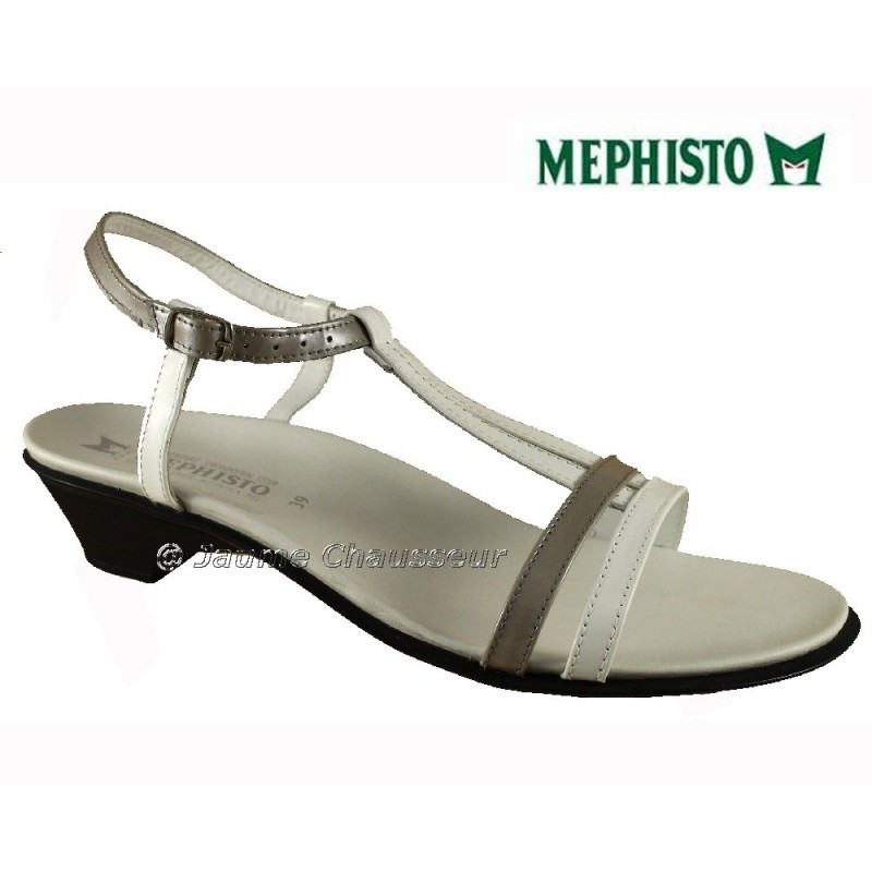 chaussures Femme MEPHISTO ENIA Blanc cuir 1642