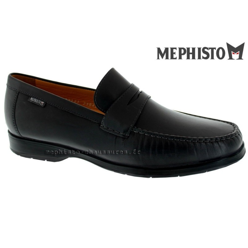 MEPHISTO Homme Mocassin HOWARD Noir cuir 18430