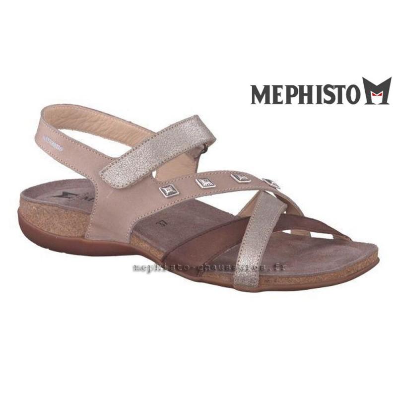 MEPHISTO Femme Sandale APPOLINE Camel nubuck 20411