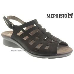 MEPHISTO Femme Sandale PEGGIE Noir nubuck 20483