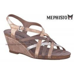 Sandale Méphisto Mephisto JULIETTE Doré nubuck brillant sandale