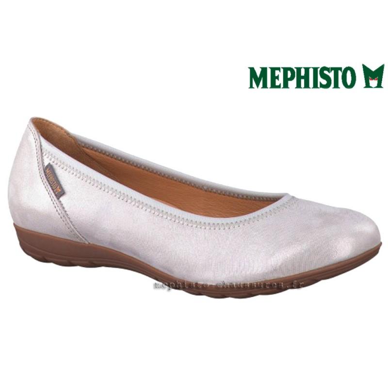 MEPHISTO Femme Ballerine EMILIE Gris brillant 20663