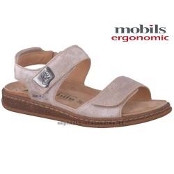 femme mephisto Chez www.mephisto-chaussures.fr Mobils QENNIE Beige cuir nu-pied