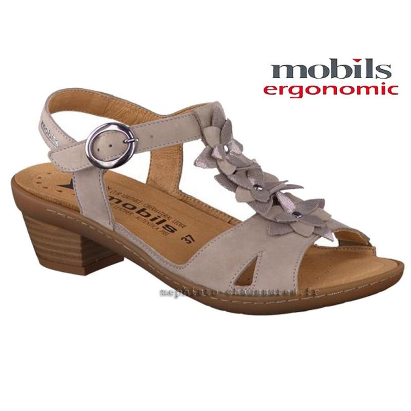 MOBILS de Mephisto Femme Sandale DOUMIA Gris nubuck 20971