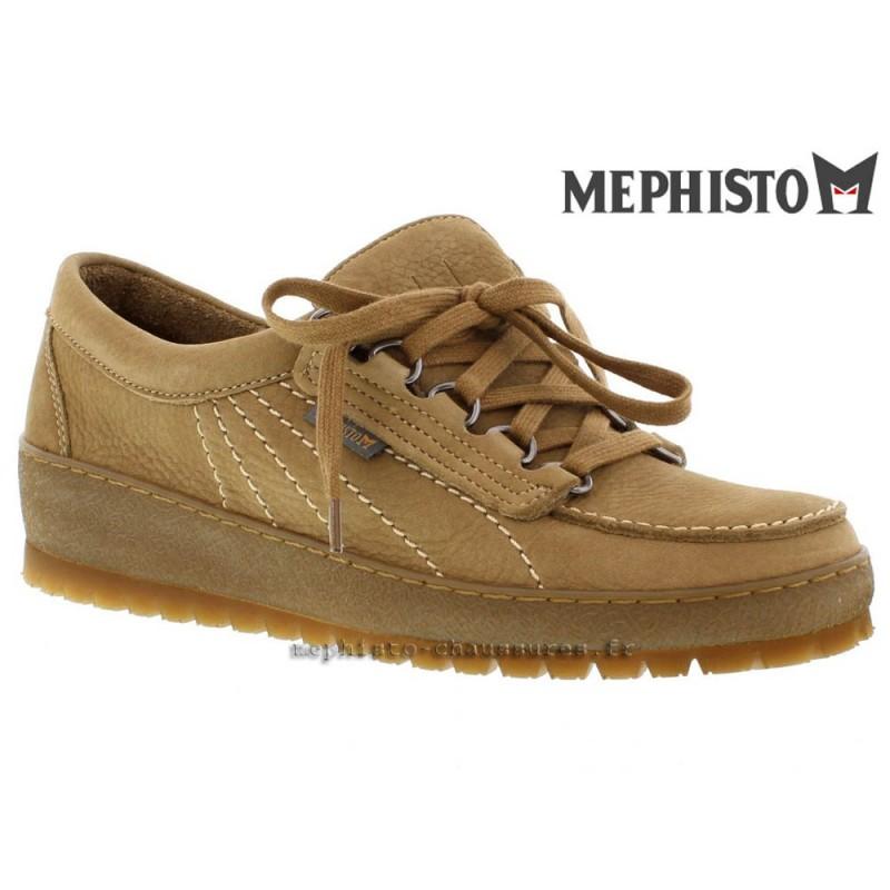 chaussures Femme MEPHISTO LADY Camel nubuck 21045