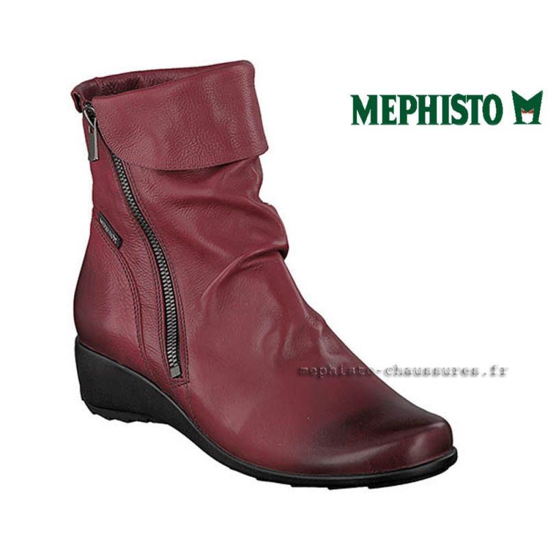 a504b197879 Mephisto SEDDY Rouge cuir Bottine Pointure 38FR   EUR5