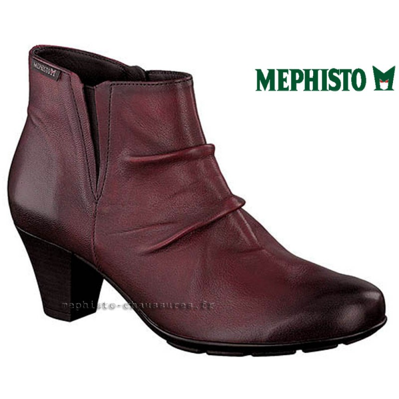 MEPHISTO Femme Bottine BELMA Rouge cuir 21808