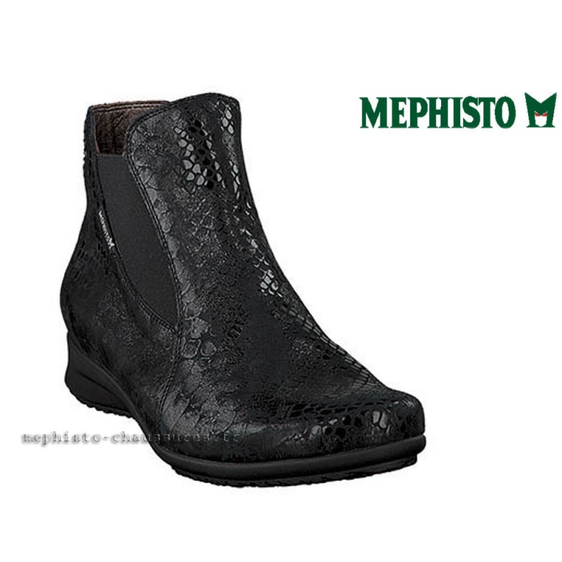 MEPHISTO Femme Bottine FEDERICA Noir cuir 21844