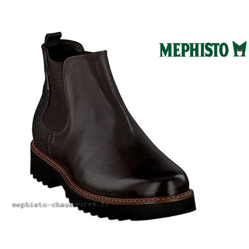 MEPHISTO Femme Bottillon SILVIA Marron cuir 21880