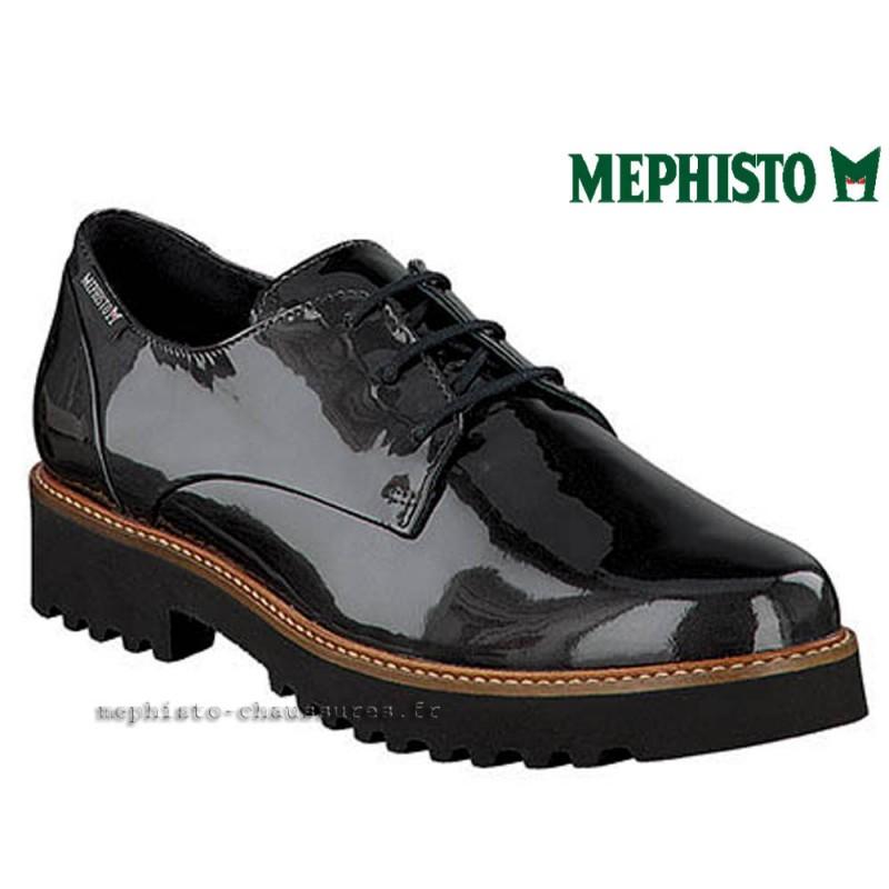 MEPHISTO Femme lacet SABATINA Gris cuir verni 21892
