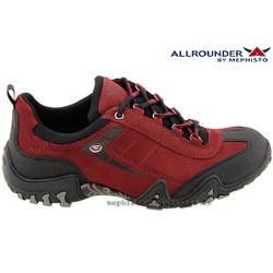 Mephisto lacet femme Chez www.mephisto-chaussures.fr Allrounder FINA TEX Rouge nubuck lacets