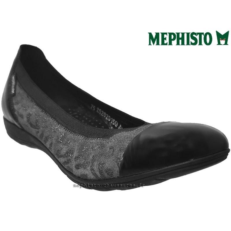 MEPHISTO Femme Ballerine ELETTRA Noir cuir 22140