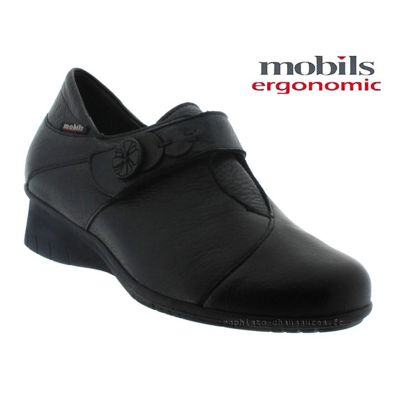 MOBILS de Mephisto Femme Ballerine GISELA Noir cuir 28589