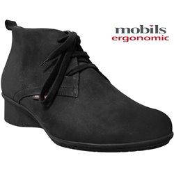 mephisto-chaussures.fr livre à Oissel Mobils GABRIELLA Noir nubuck bottine