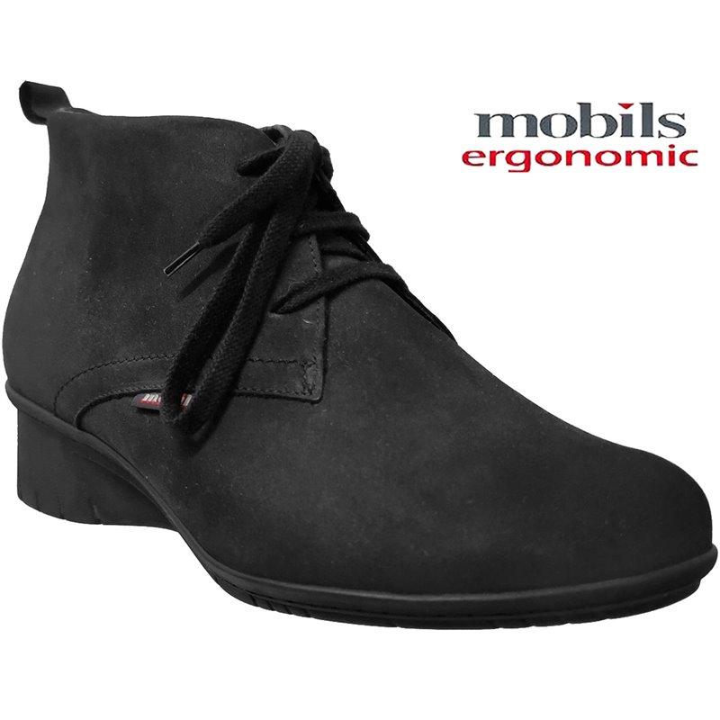 MOBILS de Mephisto Femme Bottine GABRIELLA Noir nubuck 28913
