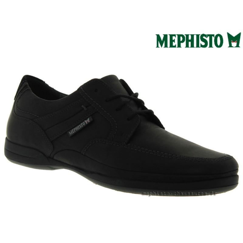 MEPHISTO Homme Lacet RONAN Noir cuir 29318