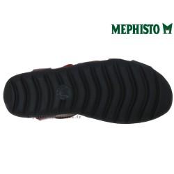 EFFIA Rouge cuir 40(fr) sandale