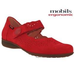 Mephisto femme Chez www.mephisto-chaussures.fr Mobils FABIENNE Rouge nubuck mary-jane