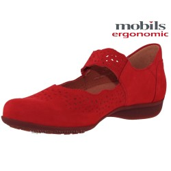 FABIENNE Rouge nubuck 6.5(eur) 40(fr) mary jane