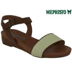mephisto-chaussures.fr livre à Besançon Mephisto GAETANA Marron blanc cuir sandale
