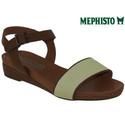 mephisto-chaussures.fr livre à Paris Lyon Marseille Mephisto GAETANA Marron blanc cuir sandale