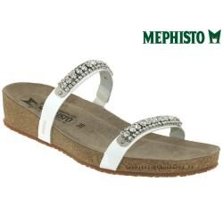 Méphisto tong femme Chez www.mephisto-chaussures.fr Mephisto IVANA Blanc verni mule