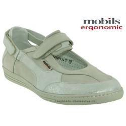 mephisto-chaussures.fr livre à Paris Mobils HUBRINA Blanc nubuck ballerine