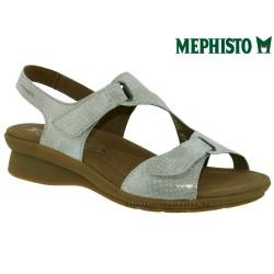 Marque Mephisto Mephisto PARIS Beige nubuck brillant sandale