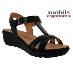 mephisto-chaussures.fr livre à Paris Lyon Marseille Mobils FELIZIA Noir verni sandale