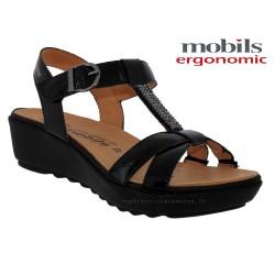 mephisto-chaussures.fr livre à Saint-Sulpice Mobils FELIZIA Noir verni sandale