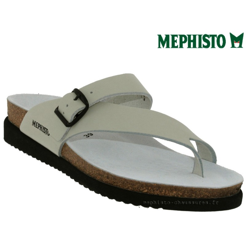 0d5d42f0c8f1 Mephisto HELEN Blanc cuir Tong Pointure 39