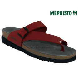 Mule femme Mephisto Mephisto HELEN Rouge cuir tong