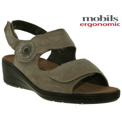 Sandale Méphisto Mobils JISSY Taupe nubuck brillant sandale