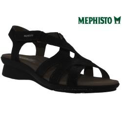 mephisto-chaussures.fr livre à Oissel Mephisto PARCELA Noir nubuck brillant sandale